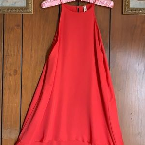 Coral Red A-line Dress